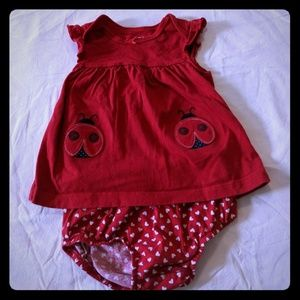Child of Mine by Carters Ladybug Dress & Bloomers